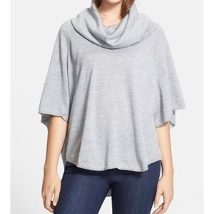Joie grey 100% cashmere cowl neck sweater S